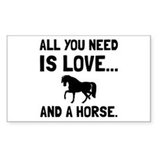 Love And A Horse Decal