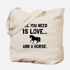 Love And A Horse Tote Bag