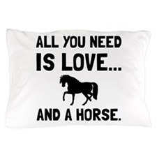 Love And A Horse Pillow Case
