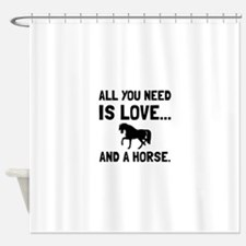 Love And A Horse Shower Curtain