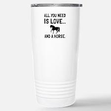 Love And A Horse Travel Mug