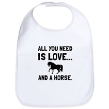 Love And A Horse Bib