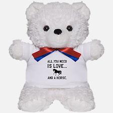 Love And A Horse Teddy Bear