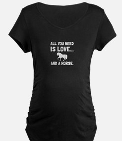 Love And A Horse Maternity T-Shirt