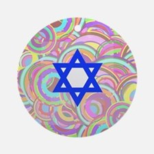 The Star of David and the Circles. Round Ornament