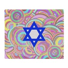 The Star of David and the Circles. Throw Blanket