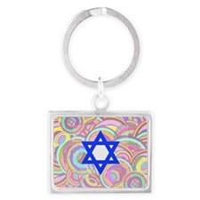 The Star of David and the Circl Landscape Keychain