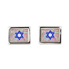 The Star of David and the Ci Rectangular Cufflinks
