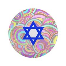 "The Star of David and the Circles. 3.5"" Button"