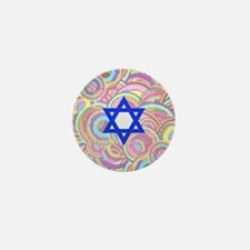 The Star of David and the Circles. Mini Button