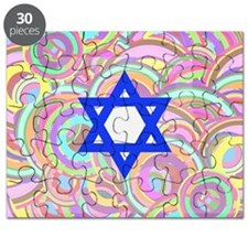 The Star of David and the Circles. Puzzle