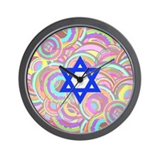 The Star of David and the Circles. Wall Clock