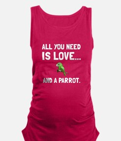 Love And A Parrot Maternity Tank Top