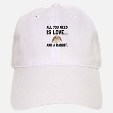 Love And A Rabbit Baseball Baseball Baseball Cap