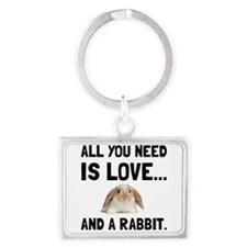Love And A Rabbit Keychains