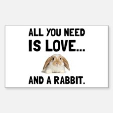 Love And A Rabbit Decal