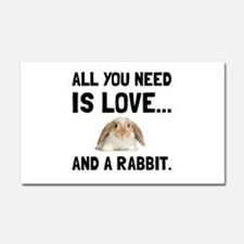 Love And A Rabbit Car Magnet 20 x 12