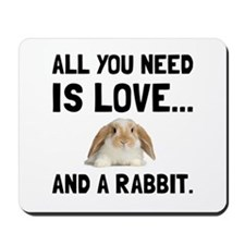 Love And A Rabbit Mousepad