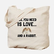 Love And A Rabbit Tote Bag