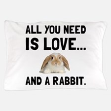 Love And A Rabbit Pillow Case