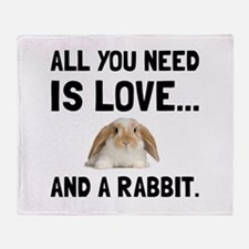 Love And A Rabbit Throw Blanket