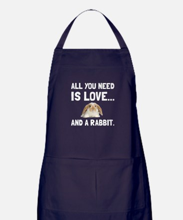 Love And A Rabbit Apron (dark)