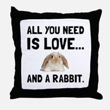 Love And A Rabbit Throw Pillow