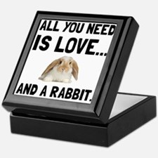 Love And A Rabbit Keepsake Box