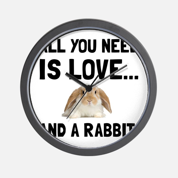 Love And A Rabbit Wall Clock