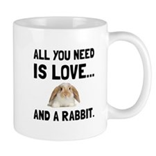 Love And A Rabbit Mugs