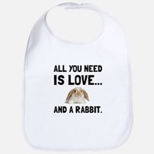 Love And A Rabbit Bib