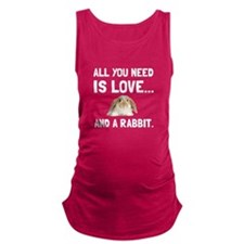 Love And A Rabbit Maternity Tank Top