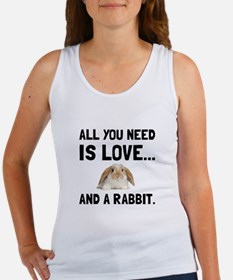 Love And A Rabbit Tank Top