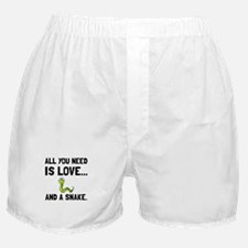 Love And A Snake Boxer Shorts