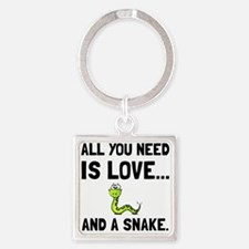 Love And A Snake Keychains
