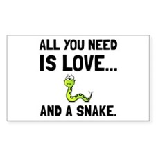Love And A Snake Decal