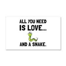 Love And A Snake Car Magnet 20 x 12