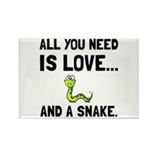 Love And A Snake Magnets