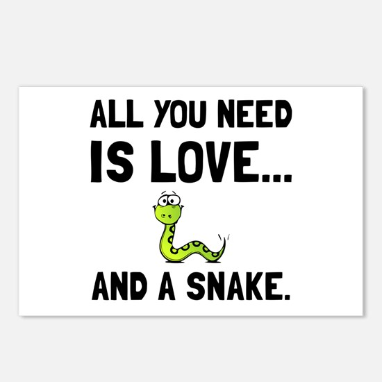 Love And A Snake Postcards (Package of 8)