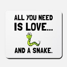 Love And A Snake Mousepad