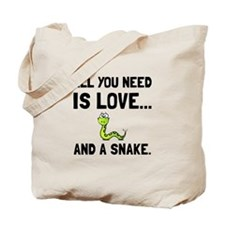 Love And A Snake Tote Bag