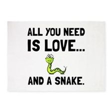 Love And A Snake 5'x7'Area Rug