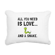 Love And A Snake Rectangular Canvas Pillow