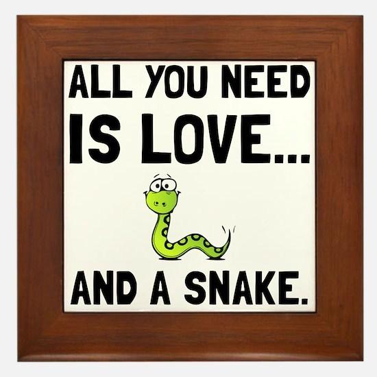 Love And A Snake Framed Tile