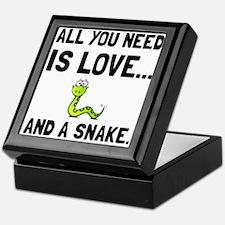 Love And A Snake Keepsake Box