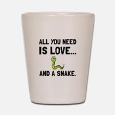 Love And A Snake Shot Glass