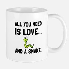 Love And A Snake Mugs