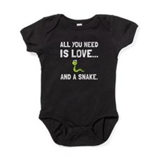 Love And A Snake Baby Bodysuit
