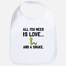 Love And A Snake Bib