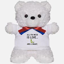 Love And A Snake Teddy Bear